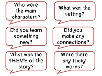 """Reading Reflections"" Conversation-starters for Partner Talks about Books"