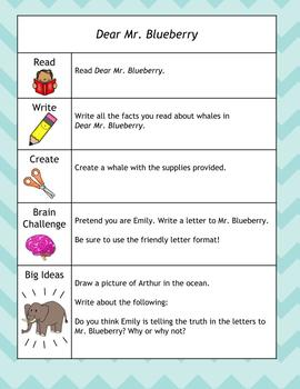 Reading Reflections - Enrichment Activities