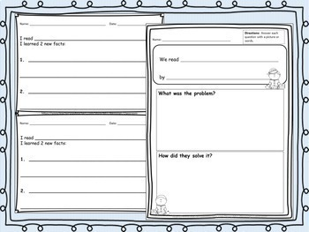 Primary Reading Reflections! Use after any read aloud!