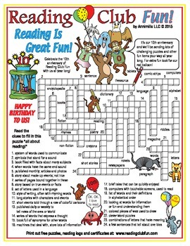 Words Related to Reading (10th Anniversary of Reading Club Fun)