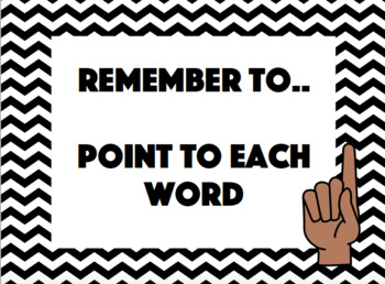 Reading Remember To's - Flash/Reminder Cards - Poster - Editable - READING GOALS