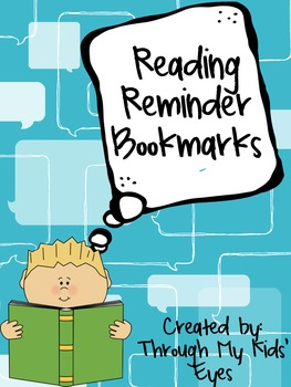 Reading Reminder Bookmarks