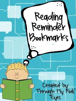 Reading Reminder Bookmarks