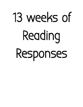 Reading Reponses