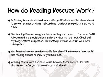 Reading Rescue Mini- Reading Comprehension Challenge for Ice Mummy