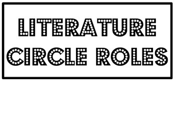 Reading Resource - Literature Circle Guidline Posters Heading
