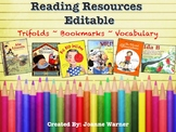 Reading Resources ~ Editable