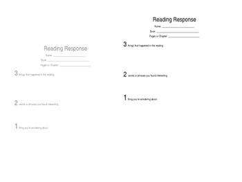 Reading Response 3-2-1