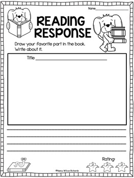 Reading Response   50 NO PREP Templates