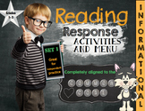 Reading Response Activities-INFORMATIONAL text--aligned to