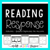 Reading Response Graphic Organizers and Activities for any book