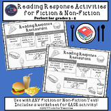 Reading Response Activities Menu for Fiction & Non-Fiction