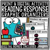 Digital Graphic Organizers Reading Response Activities Google Classroom Activity