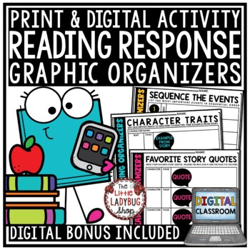 Digital Graphic Organizers: Book Review Templates & Reading Response Activities