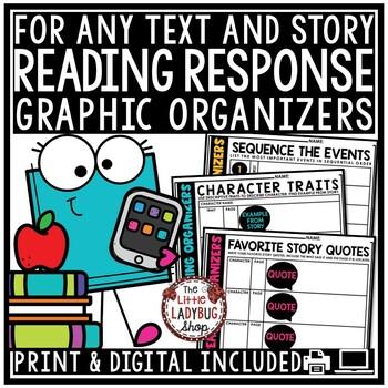 Digital Reading Graphic Organizers Google Slides, Digital Reading Response