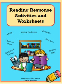 Reading Response Activities and Worksheets