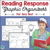 Reading Response Activities Graphic Organizers for Any Text Fiction Nonfiction