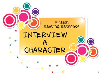 Reading Response Activity - Interview a Character