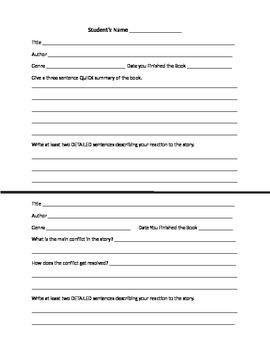 Reading Response Activity Packet