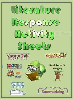 Literature Response Activity Sheets; Higher Level Thinking