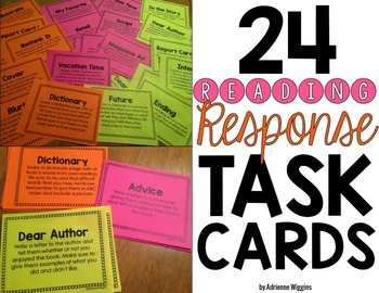 Reading Response Activity TASK CARDS