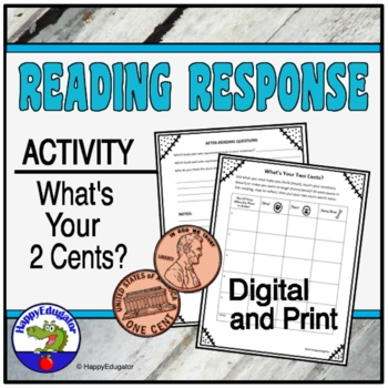 Reading Response Activity - What's Your Two Cents?