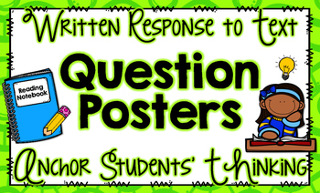 Written Comprehension Anchor Charts