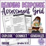 Reading Skills Assessment/Evaluation Grid FREEBIE