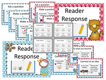 Reading Response Printable Anchor Charts (Four Themes)