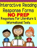 Interactive Reading Response Activities for Reading Journals or Guided Reading