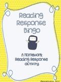 Reading Response Bingo- A Homework Activity