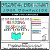 Reading Response Book Companion || Growing Bundle || Dista