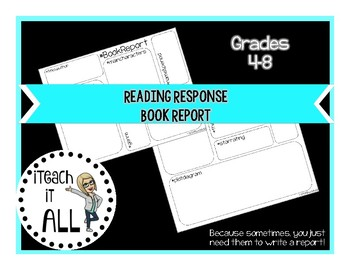 Reading Response Book Report Graphic Organizer