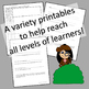 Book Report Printables for Mysteries