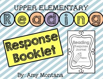 Reading Response Booklet {Upper Elementary 3-5}