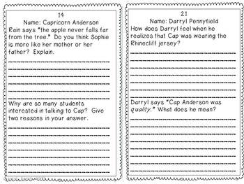 Reading Response Booklet for Schooled