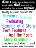 Reading Response Booklets: infer, evaluate, text features