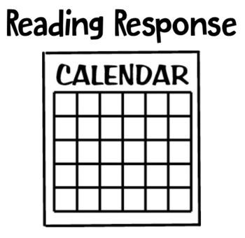 Reading Response Calendar
