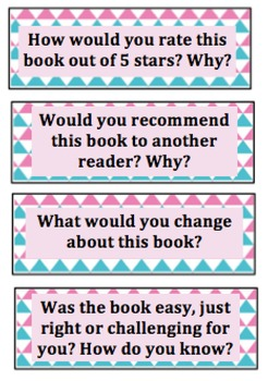 Reading Response Cards