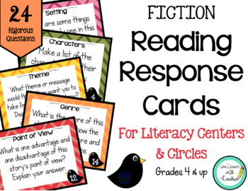 Reading Response Cards (FICTION & NONFICTION)- 48 Cards