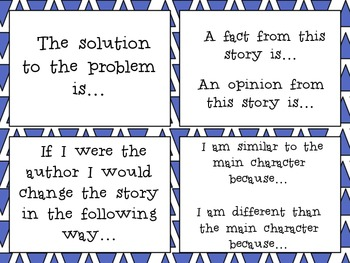 Reading Response Cards- Fiction and Nonfiction