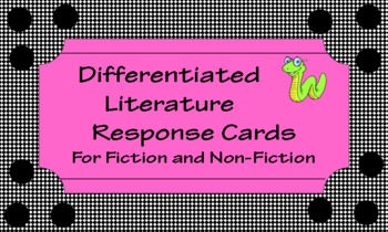 Reading Response Cards for Fiction and Non-Fiction Books