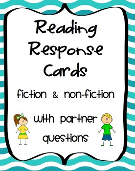 Reading Response Cards with Partner Questions