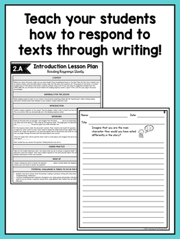 Reading Response Center Activities for Second Grade