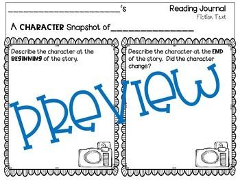 Reading Response Character Traits, Settings, & Plots  Comparing-Contrasting