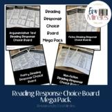 Reading Response Choice Board Bundle