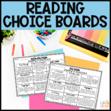 Fiction and Nonfiction Reading Response Choice Boards