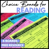 Reading Response Choice Boards