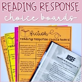 Reading Choice Boards   Google Slides and Editable   Dista