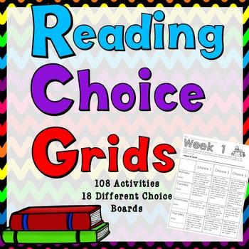 Reading Response Choice Grids